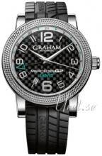 Graham 2MECS.B03A Mercedes GP Time Zone Musta/Kumi Ø48 mm 2MECS.B03A