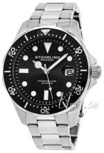 Stührling Original 824.01 Aquadiver Regatta Musta/Teräs Ø42 mm 824.01