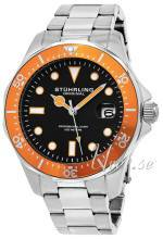 Stührling Original 824.04 Aquadiver Regatta Musta/Teräs Ø42 mm 824.04