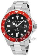 Stührling Original 824.05 Aquadiver Regatta Musta/Teräs Ø42 mm 824.05