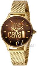 Just Cavalli JC1L032M0115 Logo Ruskea/Kullansävytetty teräs Ø34 mm JC1L032M0115