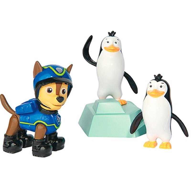 Paw Patrol Rescue Action Pack with friends, Spy Chase & Penguins Rescue Set