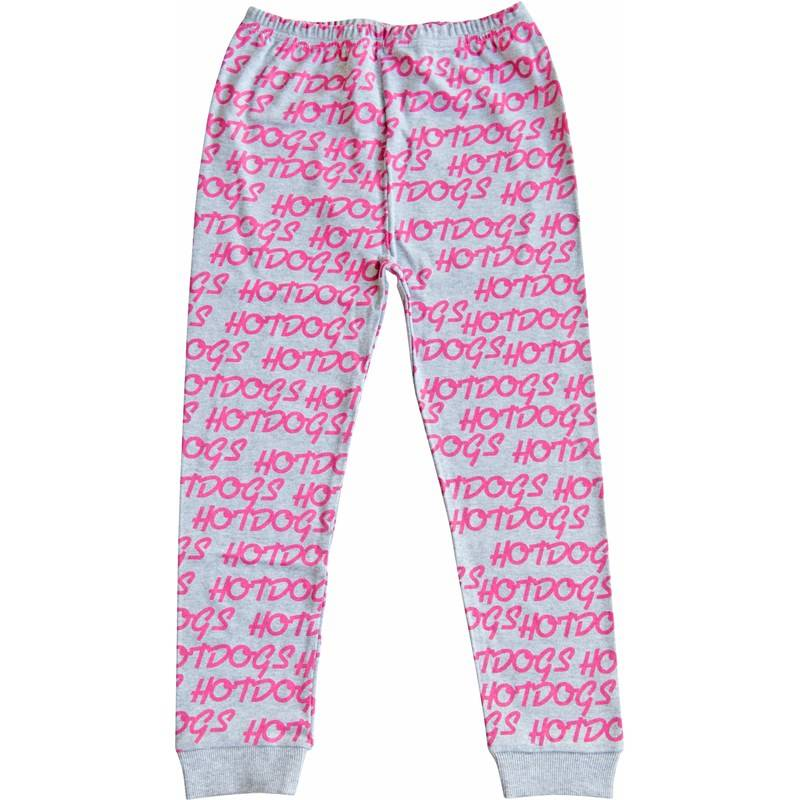Gardner and the gang Leggingsit, Hotdogs repeat hotpink, Grey3-6 kk