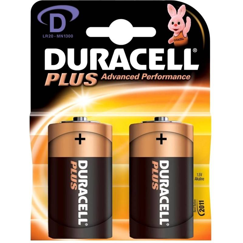 Duracell Plus Power D 2 kpl