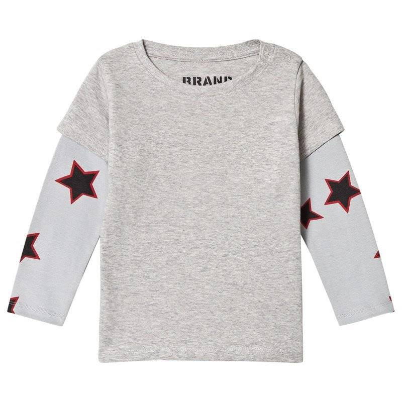 The BRAND Red Allstar Double T-paita Grey Mel80/86 cm