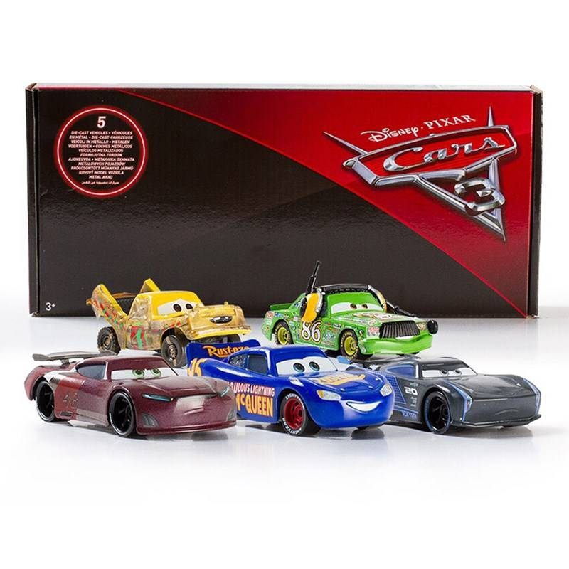 Disney Cars 3, Die-Cast Cars, 5 kpl, Exclusive