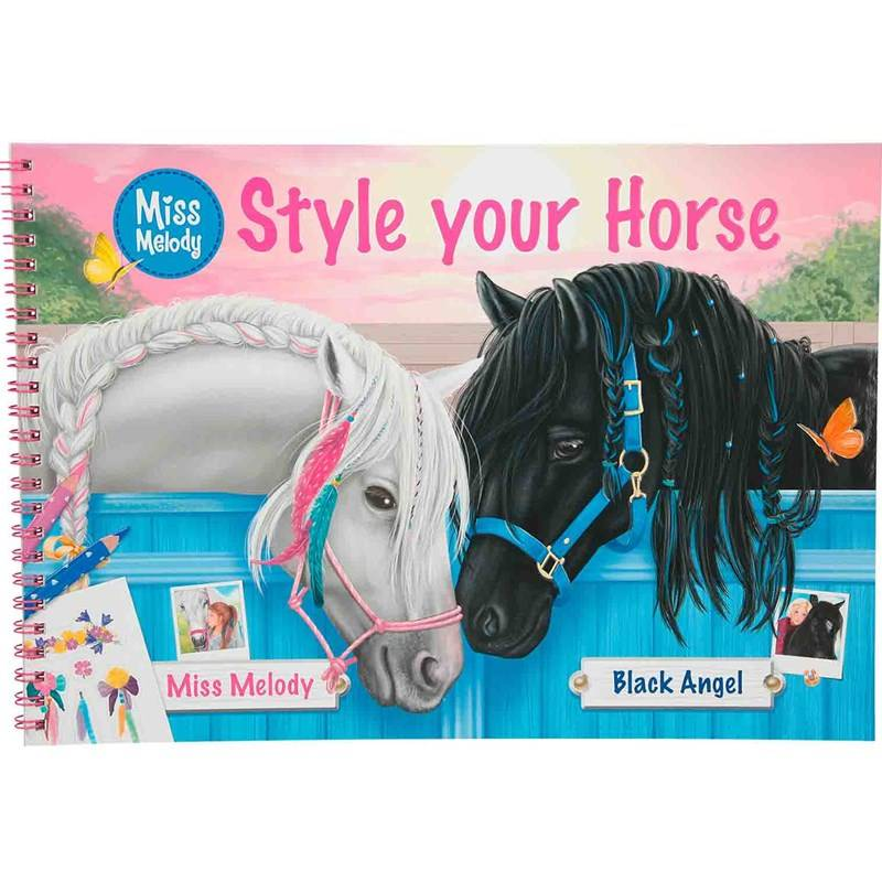 Play Miss Melody Style your Horse Colouring Book