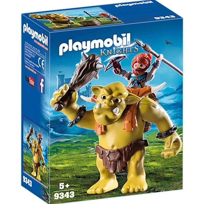 Playmobil 9343 Giant Troll with Dwarf Fighter
