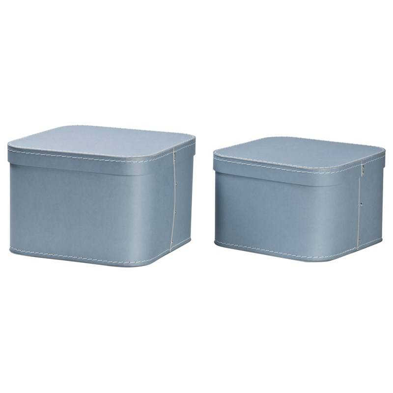 Bigso Box of Sweden Ludvig Nested Boxes 2-pack Dusty Blue