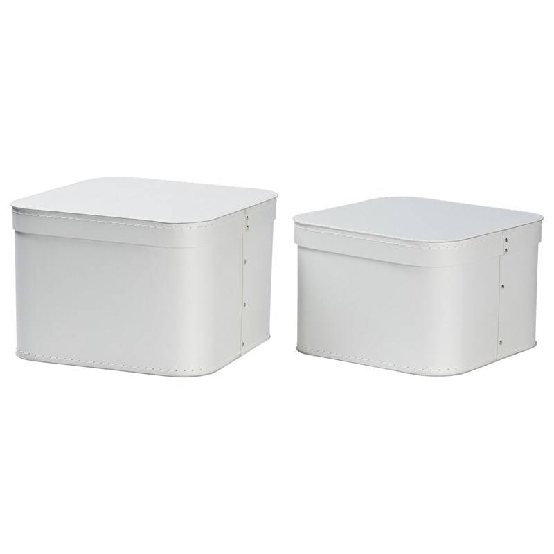 Bigso Box of Sweden Ludvig Nested Boxes 2-pack Silver Grey