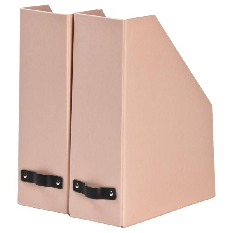 Bigso Box of Sweden William Magazine File 2-pack Flat Back Dusty Pink
