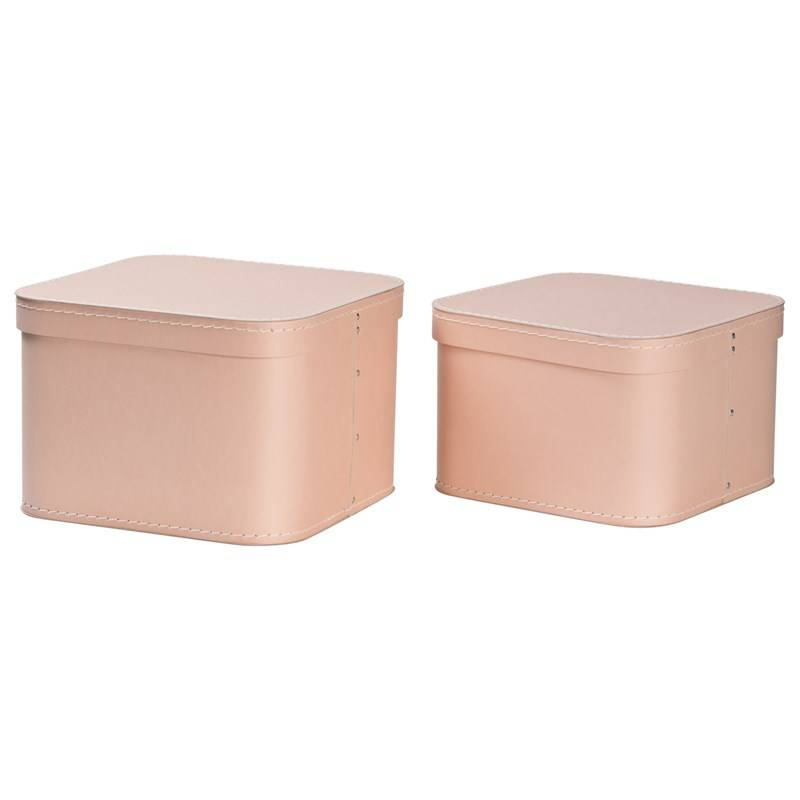 Bigso Box of Sweden Ludvig Nested Boxes 2-pack Dusty Pink