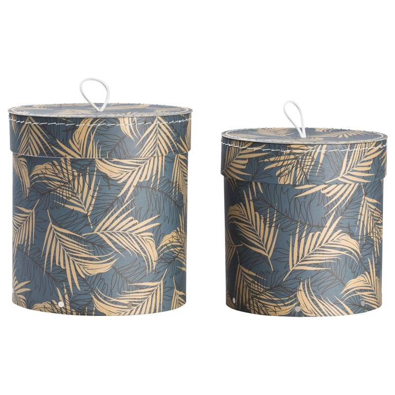 Bigso Box of Sweden Hanna Nested Boxes 2-pack Leafy