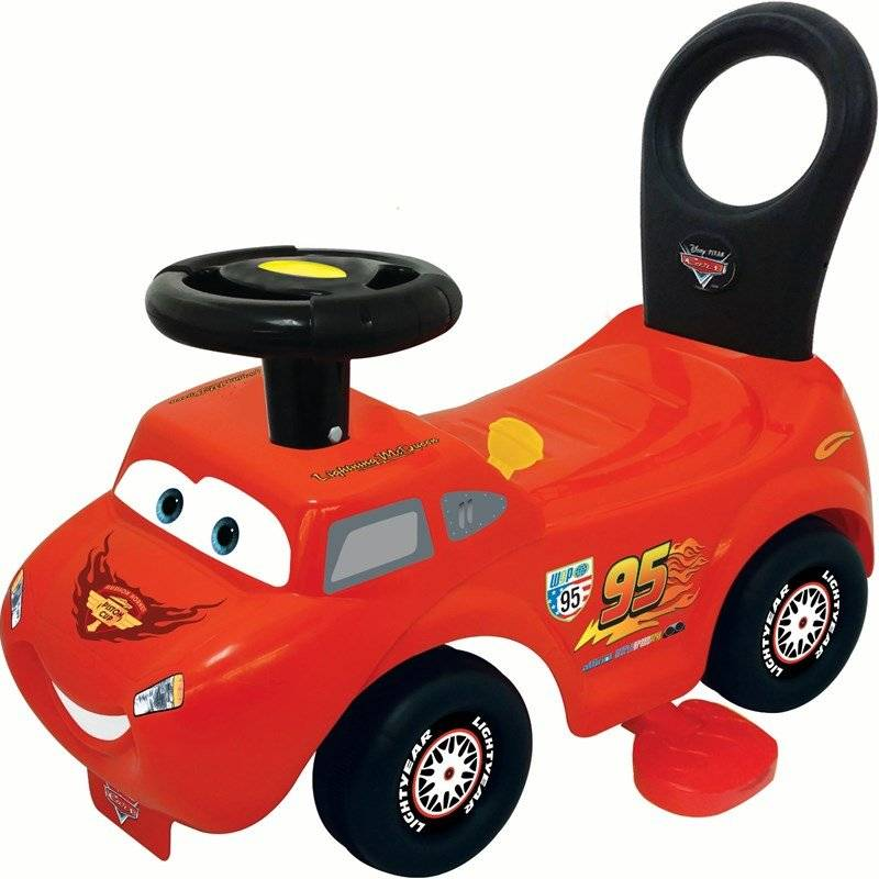 Disney Cars, Potkutteluauto, Activity Ride On, 2-in-1