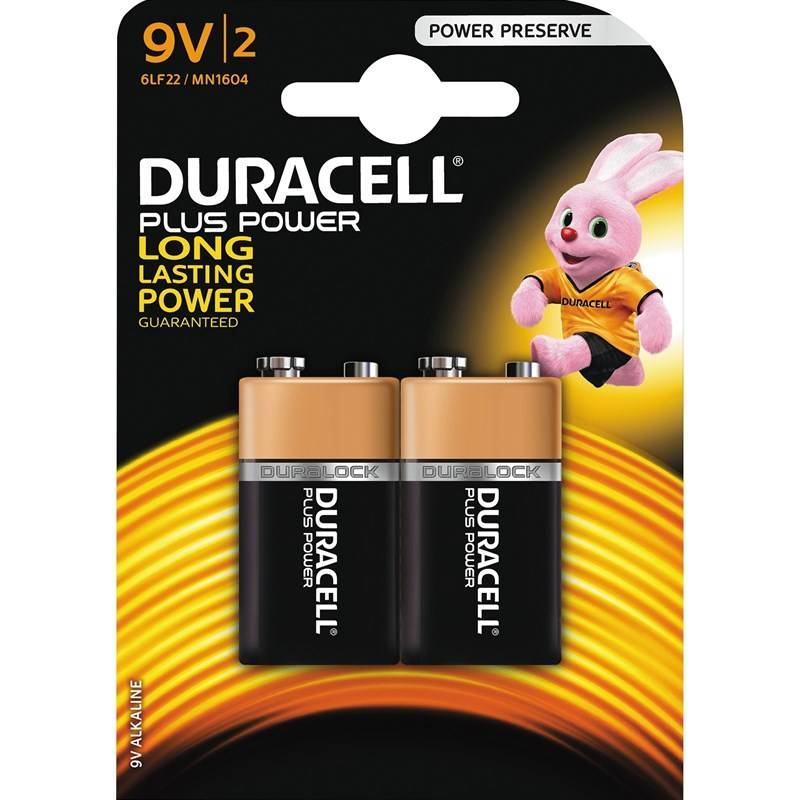 Duracell Plus Power 9v 2 kpl