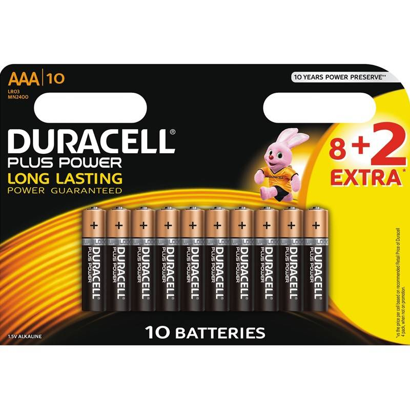 Duracell Plus Power AAA 8+2 kpl