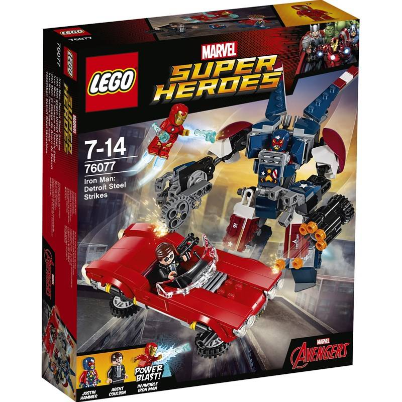 Lego 76077, Iron Man: Detroit Steel iskee