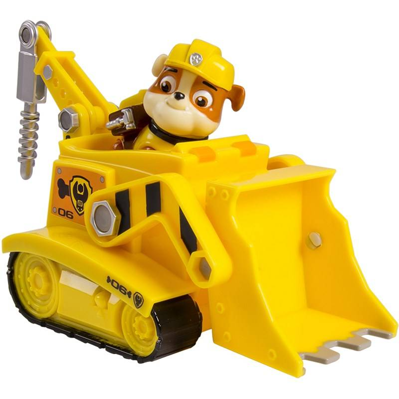Paw Patrol Basic Vehicle With Pup, Rubble