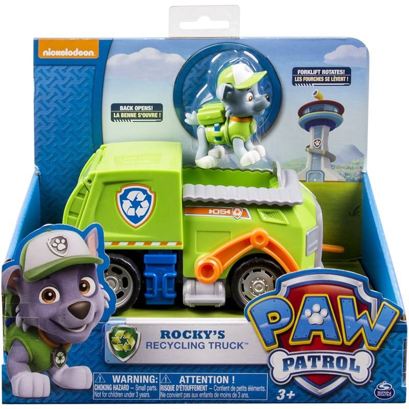 Paw Patrol Basic Vehicle With Pup, Rocky