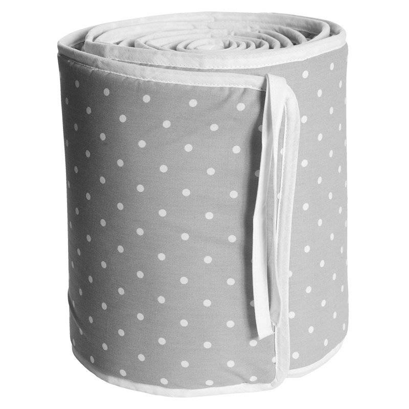 Färg & Form Grey Dots Crib Bumper