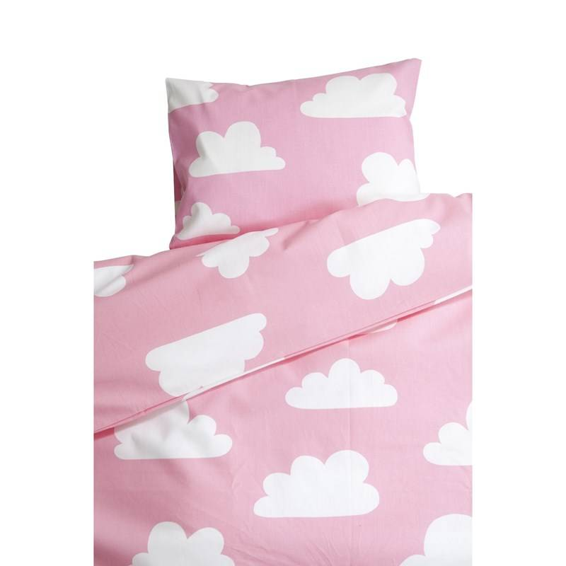 Färg & Form Clouds Pink Crib Duvet Set