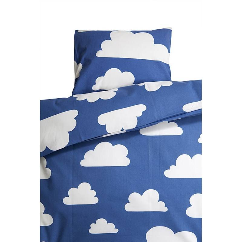 Färg & Form Clouds Blue Crib Duvet Set