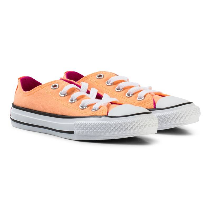 Converse Orange Chuck Taylor All Star Double Tongue Junior Trainers27 (UK 10)