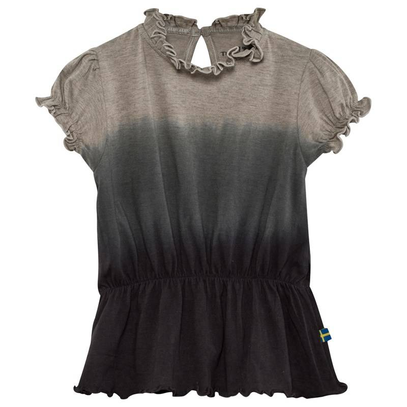 The BRAND Puff Top Grey Mel Dip Dye92/98 cm