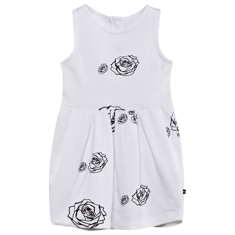 The BRAND Tulip Dress White Roses92/98 cm