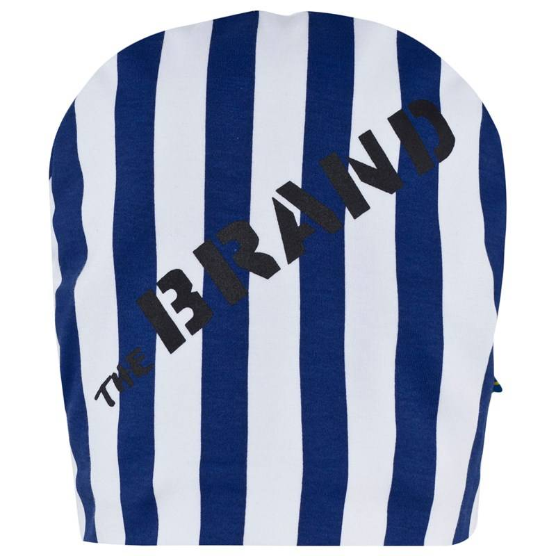 The BRAND Hat Blue/White Stripe