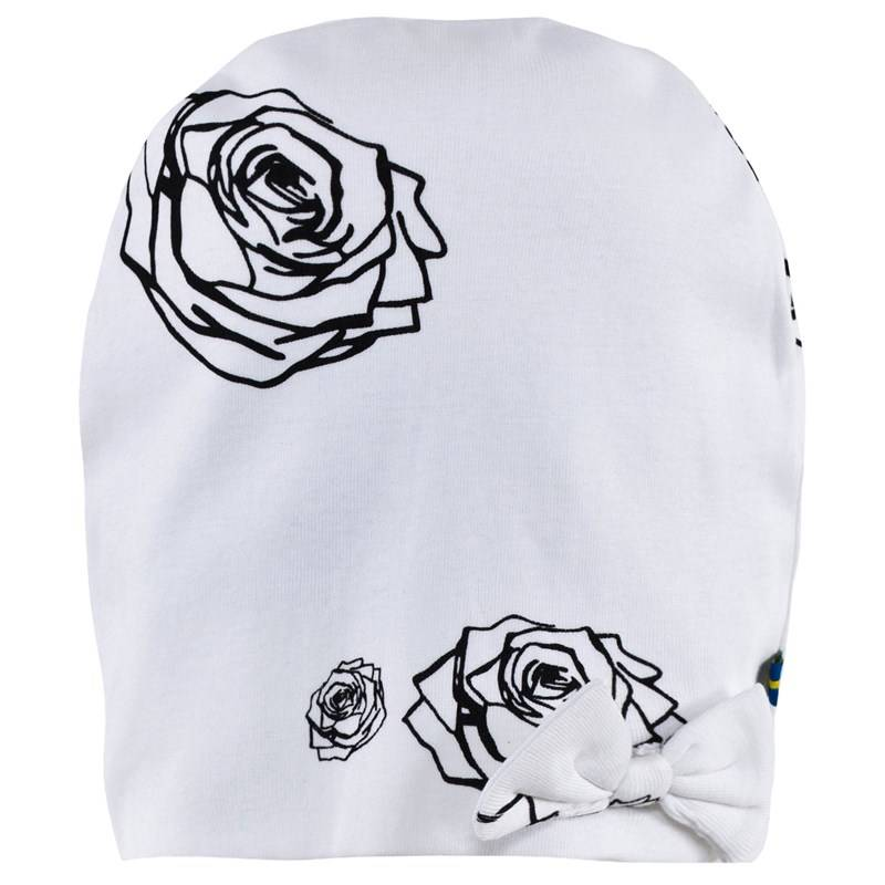 The BRAND Bow Hat White Roses