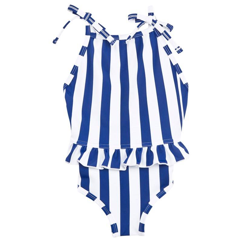 The BRAND Bow Swim Suit Blue/White Stripe80/86 cm