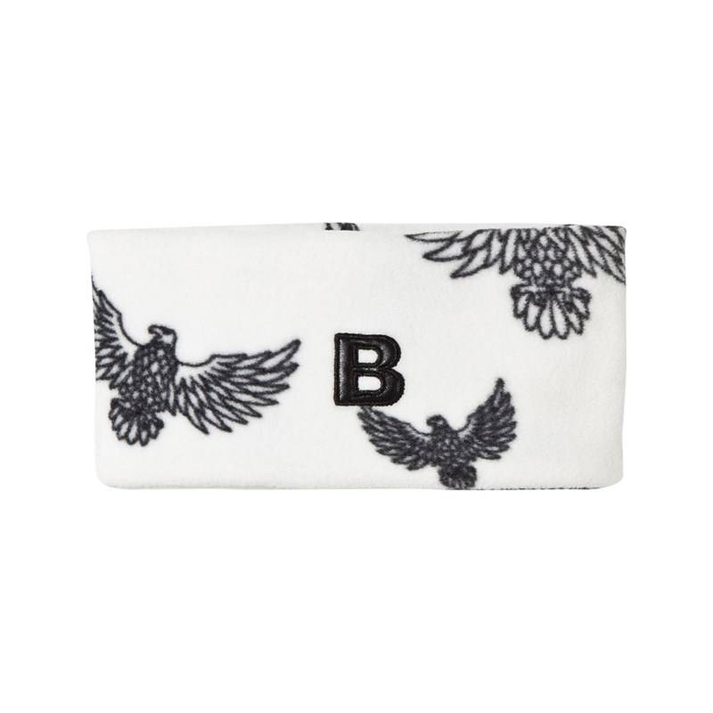 The BRAND Fleece Headband Off White Eagles