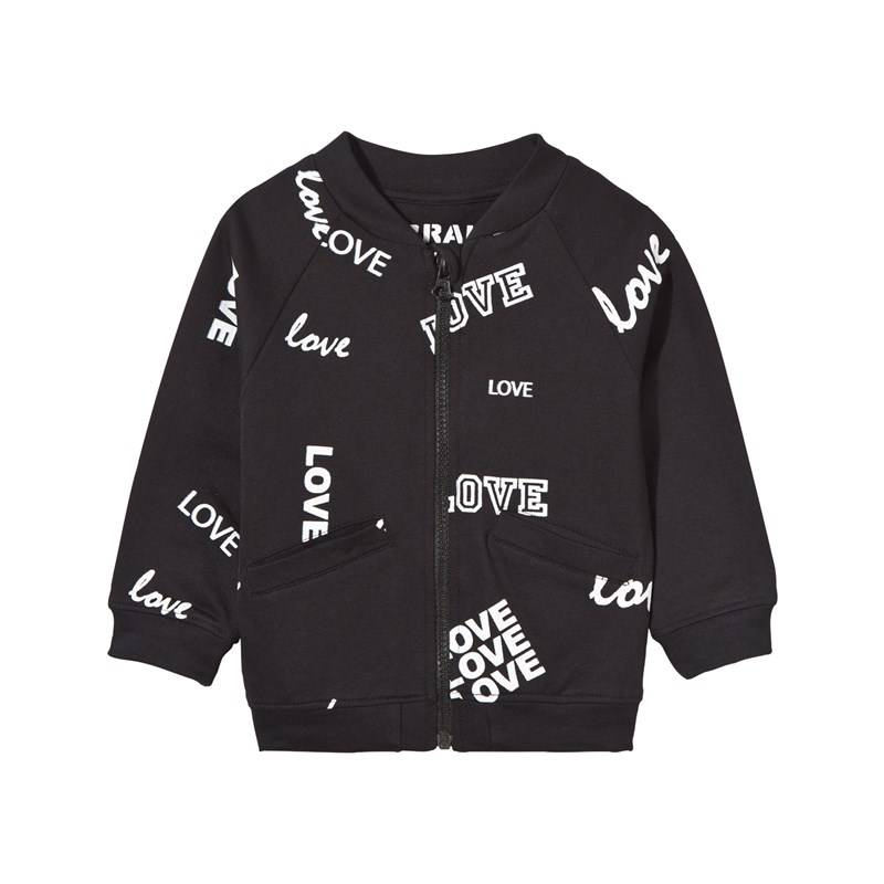 The BRAND Baby Bomber Black Love68/74 cm