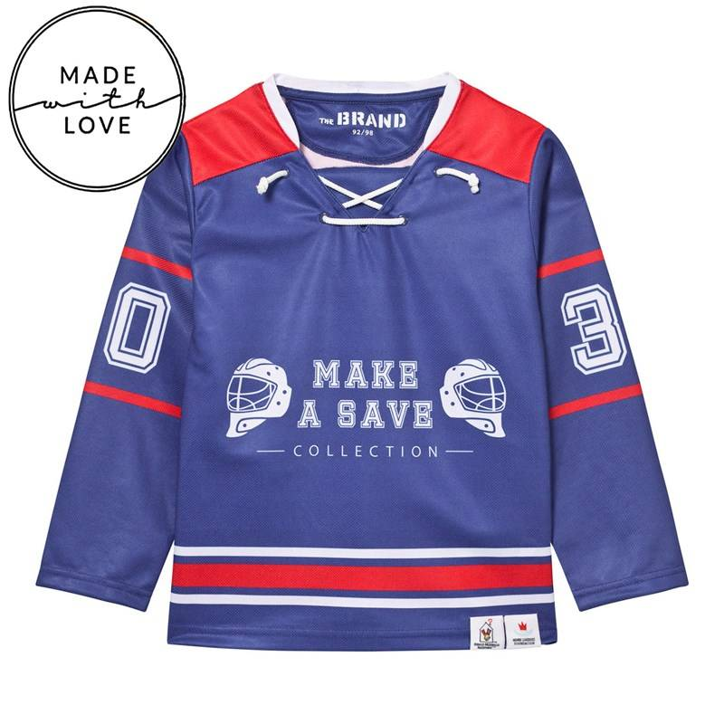 The BRAND Hockey Sweater Red/Blue80/86 cm