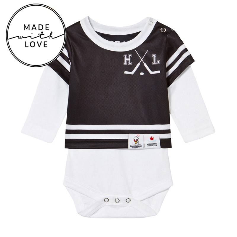 The BRAND Onesie Long Sleeve Black/White56/62 cm