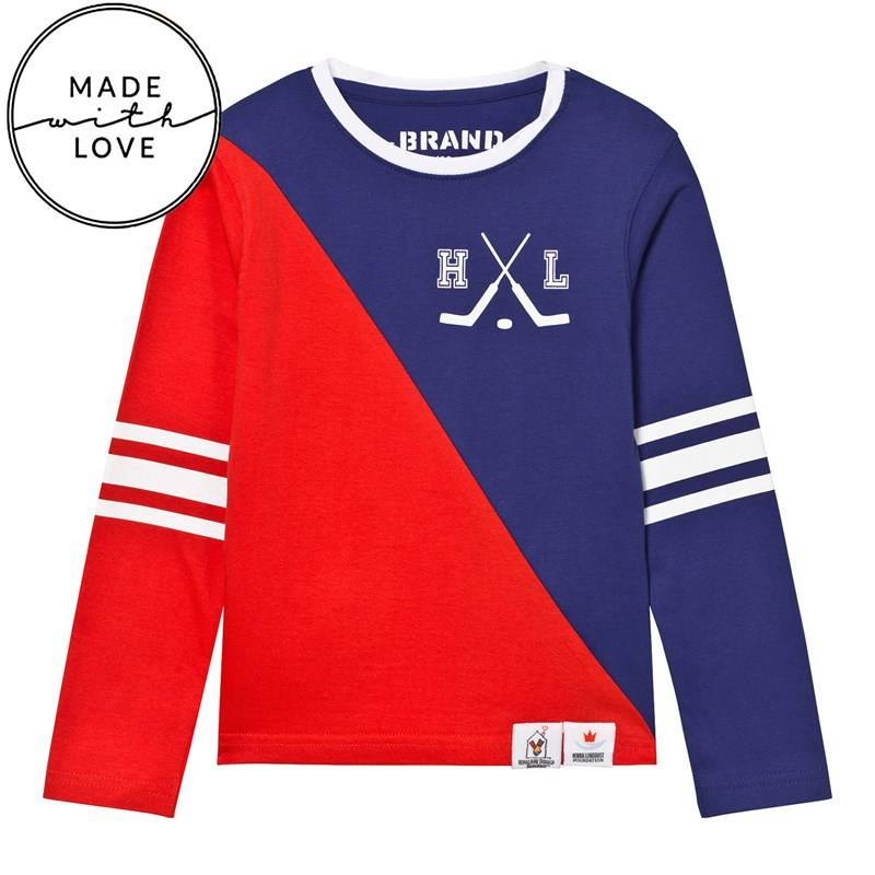 The BRAND Diagonal Tee Red/Blue80/86 cm