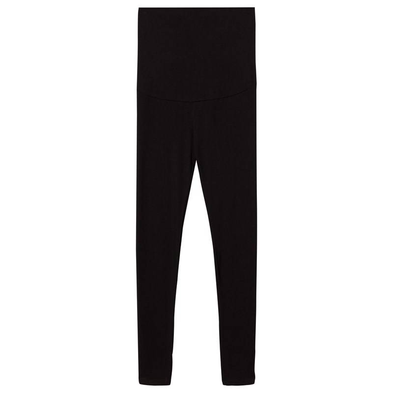 Mom2moM Mama Tights Black Solid