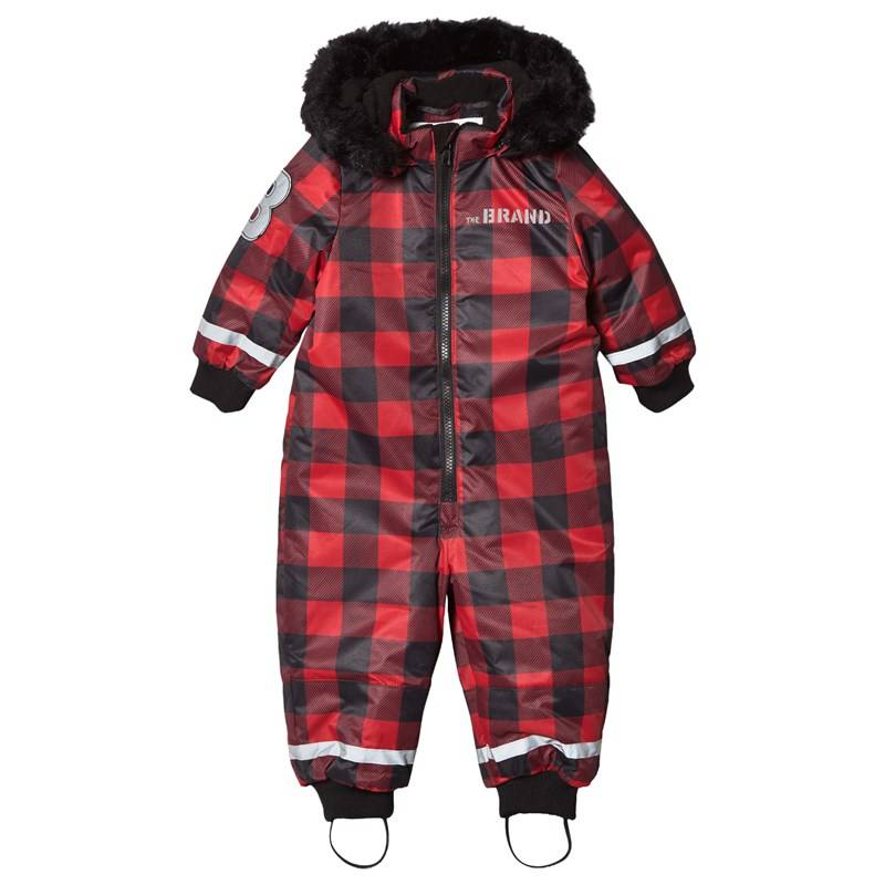 The BRAND Overall Checked Red With Black Fur56/62 cm