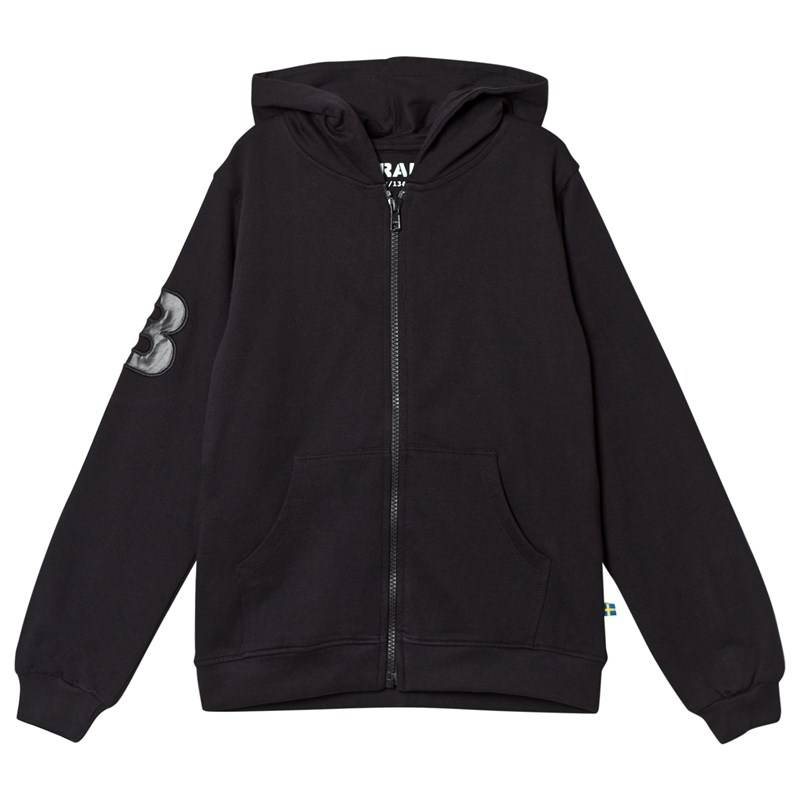 The BRAND City Hoodie Black With White Prints80/86 cm