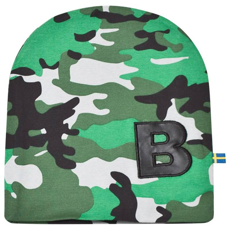 The BRAND Hat Light Camo With Black Leather B