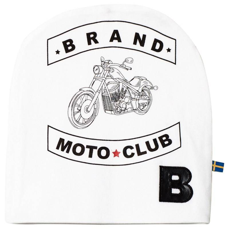 The BRAND Hat White With Moto Print