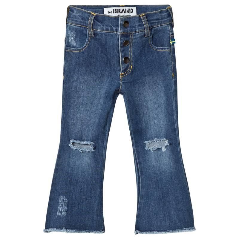 The BRAND 70´th Denims Light Blue Denim With Checked Flanell80/86 cm