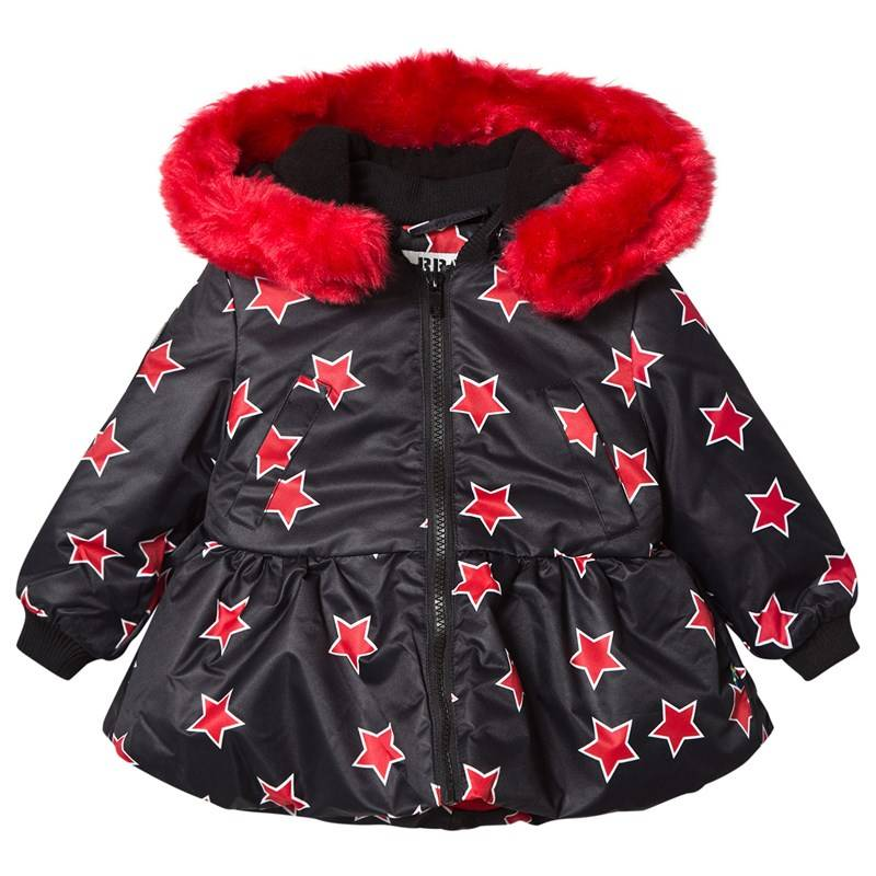 The BRAND Peplum Collar Fur Takki Red Allstar80/86 cm