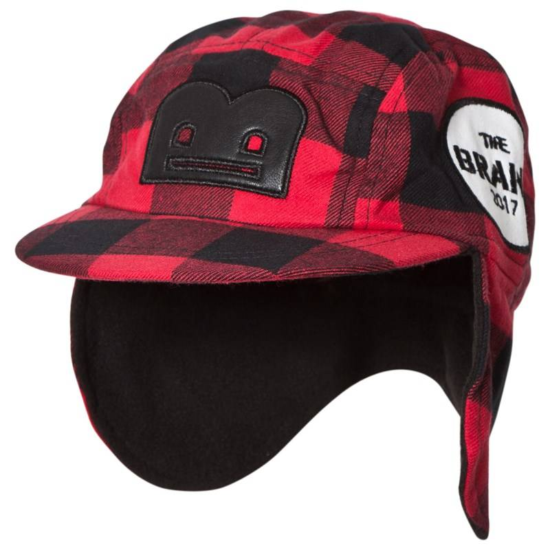 The BRAND Flanelli B-Moji Talvihattu Red Check