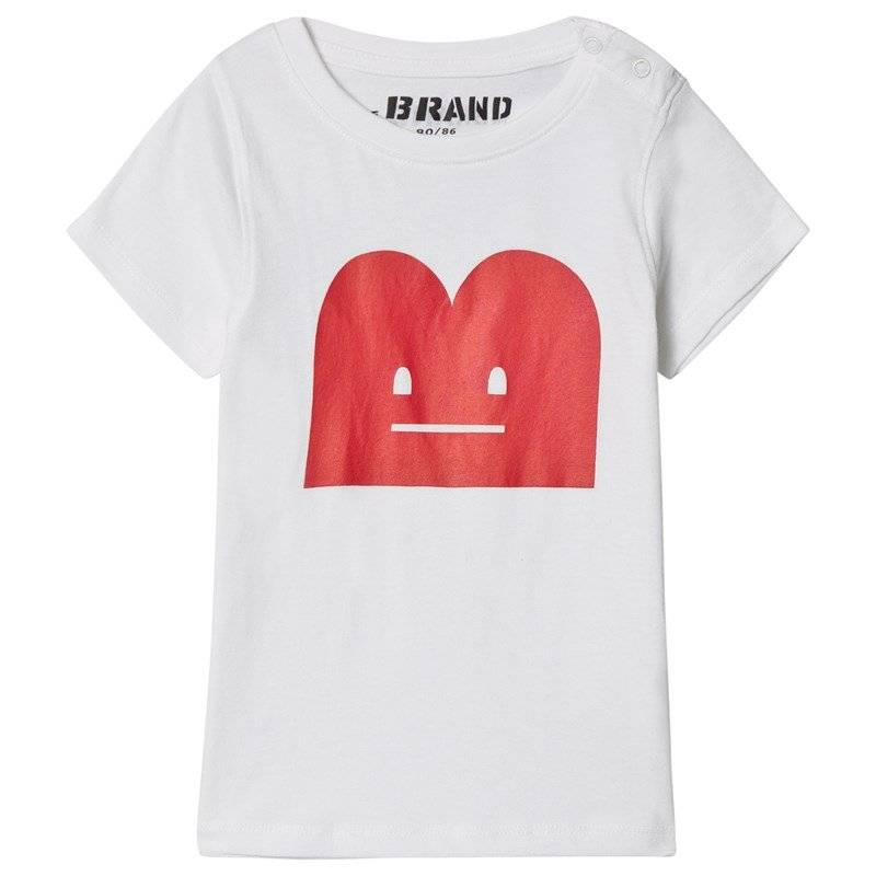 The BRAND B-Moji Tee White With Red B-Moji80/86 cm