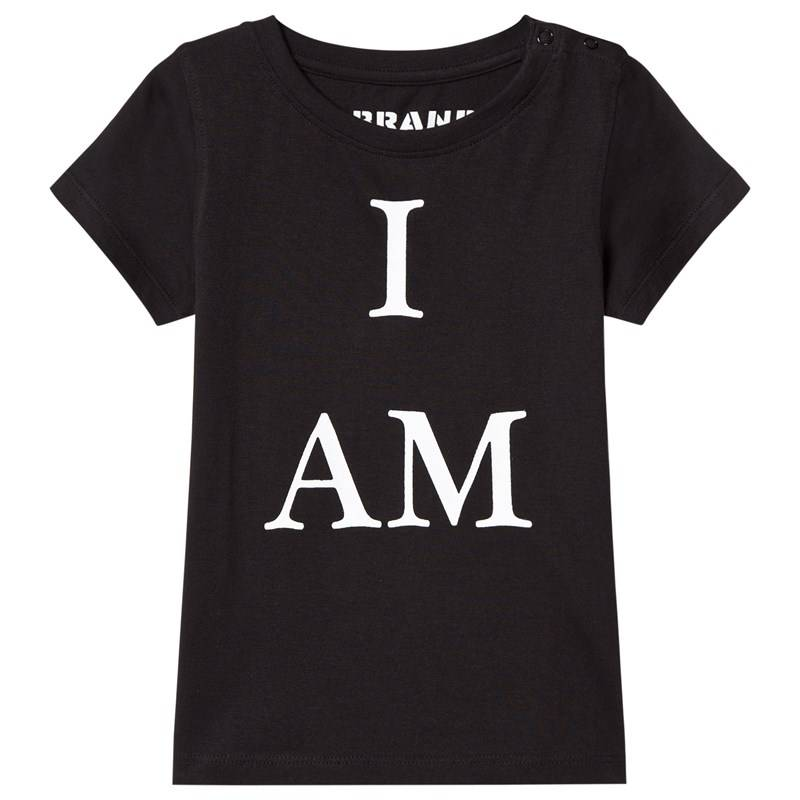 The BRAND I Am Tee BlackWith White Print80/86 cm