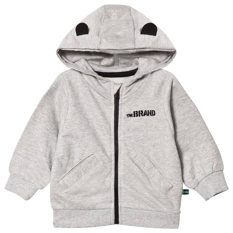 The BRAND Baby Face Hoodie Grey Mel With Face56/62 cm