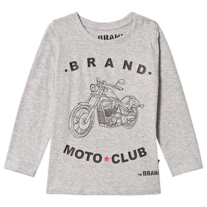 The BRAND Moto Club Tee Grey Mel80/86 cm