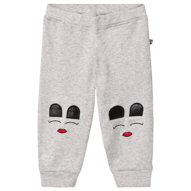 The BRAND Baby Face Pant Grey Mel With Face56/62 cm